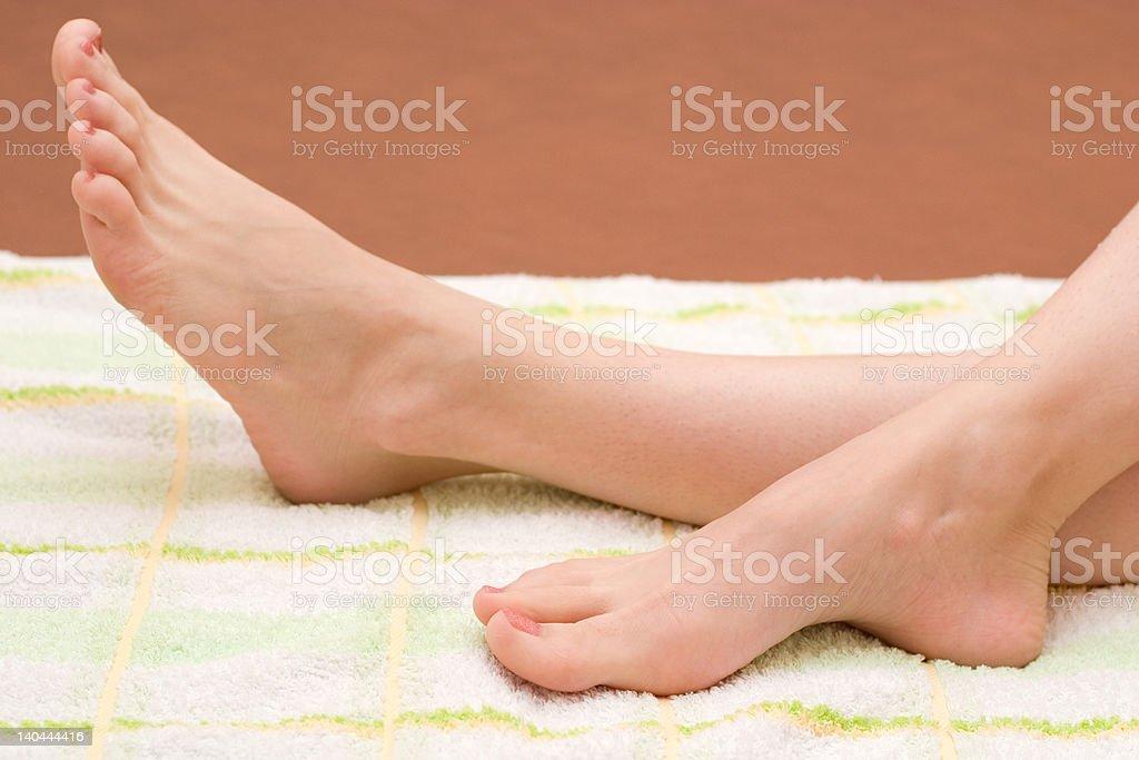 beautiful feet royalty-free stock photo