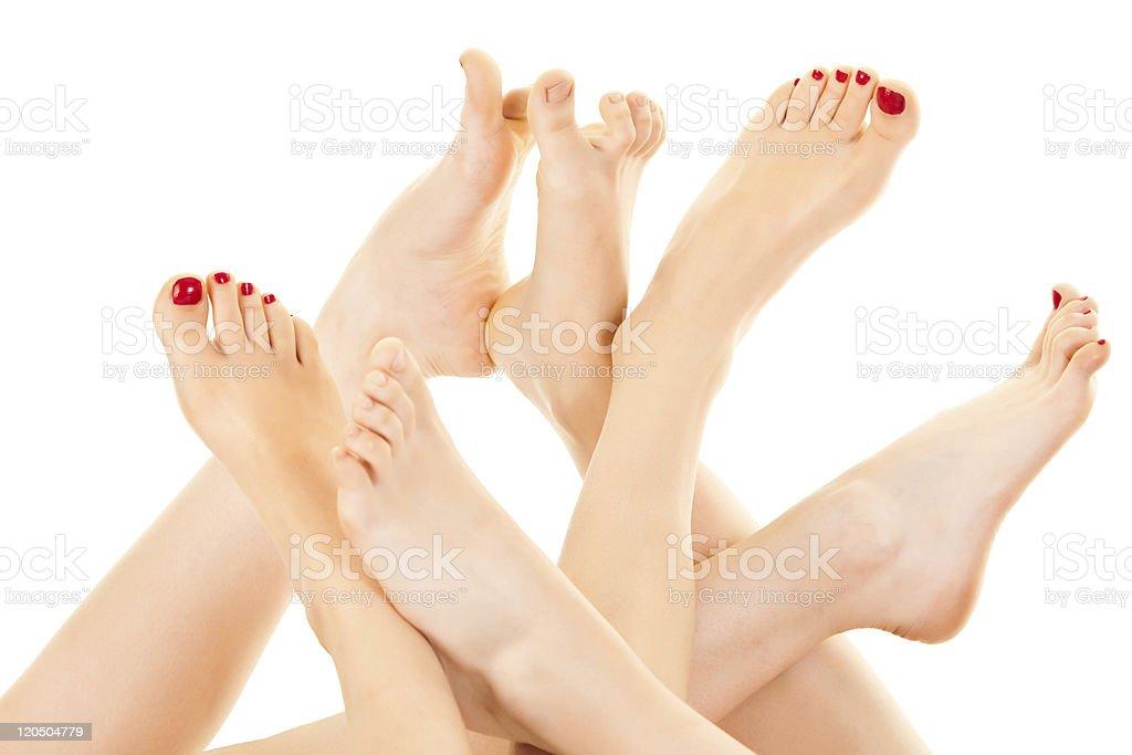 Beautiful Female Barefoot stock photo