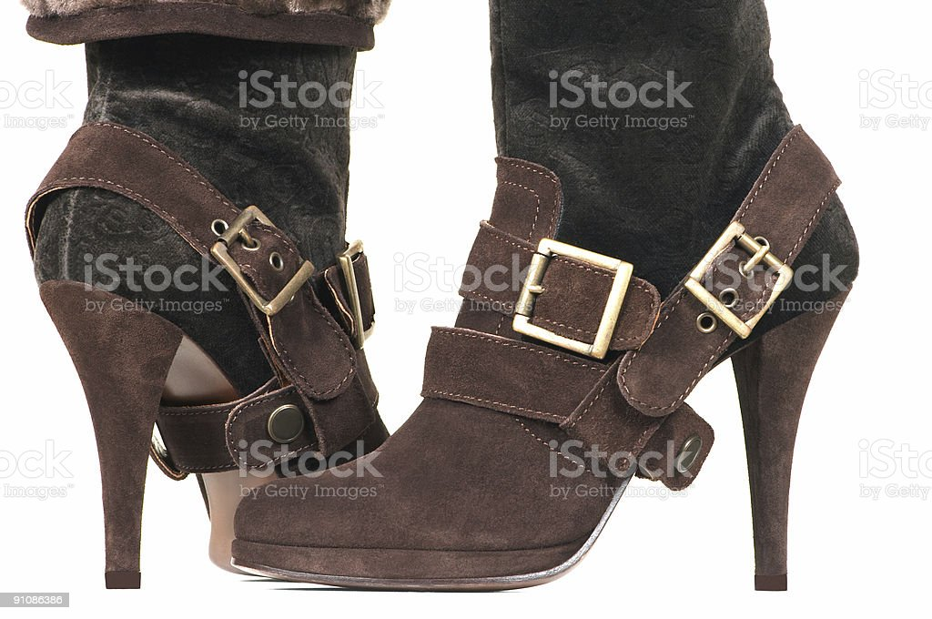 Beautiful female boots royalty-free stock photo