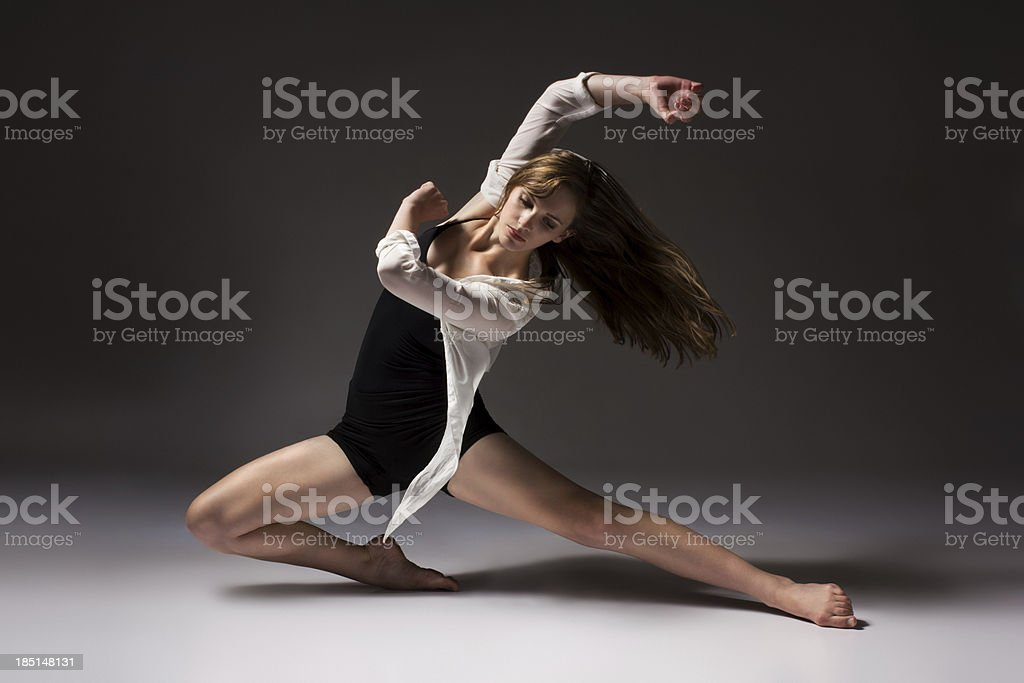Beautiful female dancer stock photo