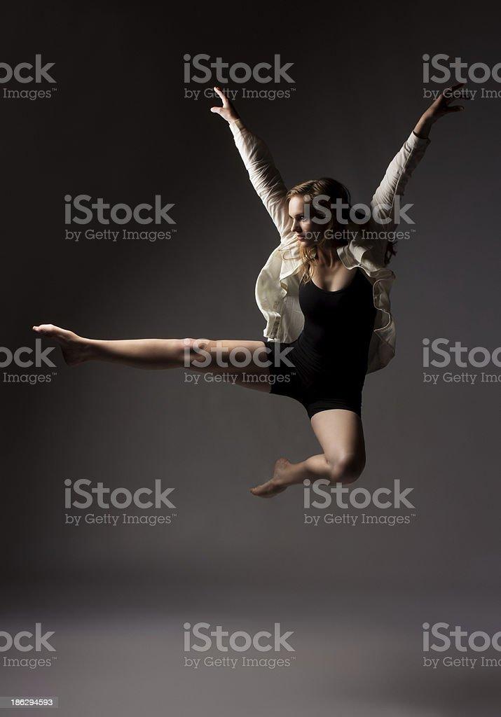 Beautiful female dancer royalty-free stock photo