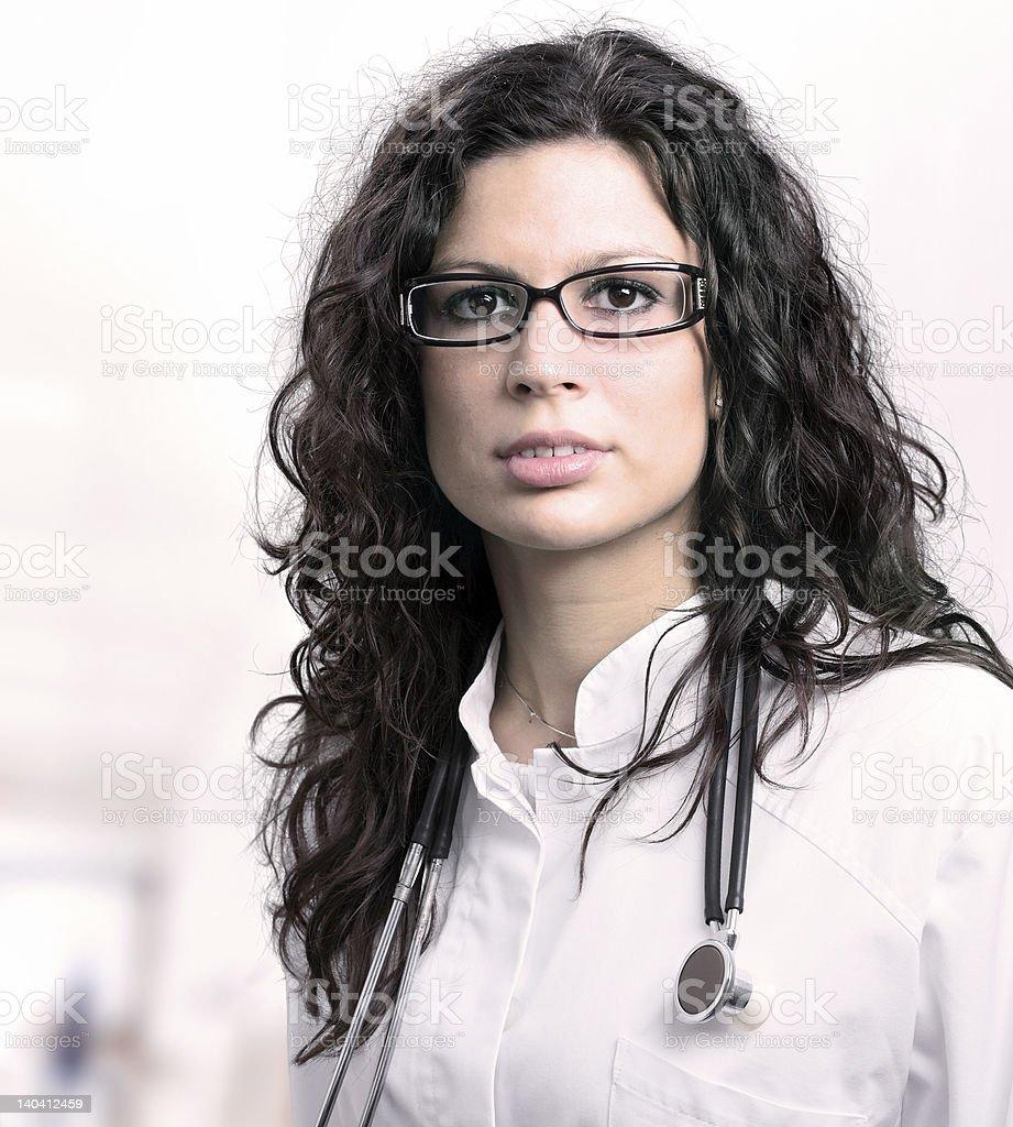 Beautiful female doctor royalty-free stock photo
