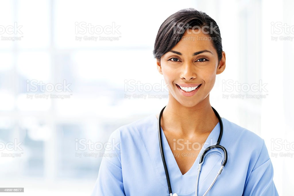 Beautiful Female Doctor Smiling stock photo