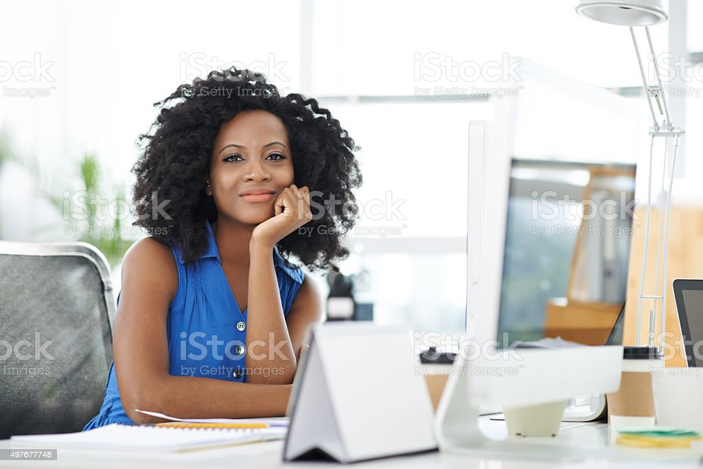 Beautiful female entrepreneur stock photo