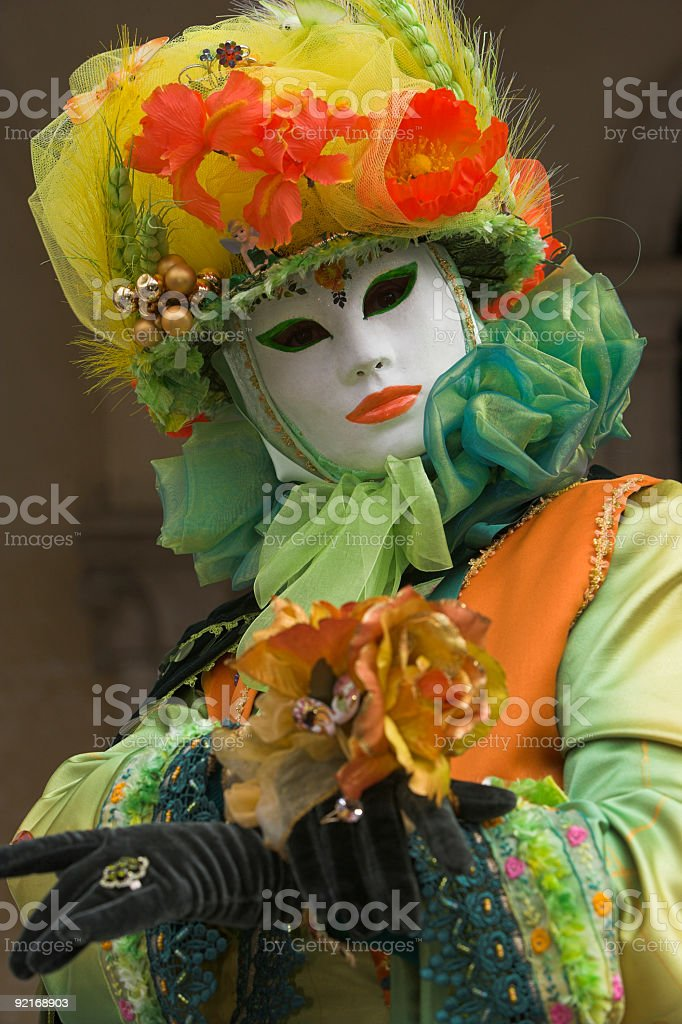 Beautiful female mask at carnival in Venice (XXL) royalty-free stock photo