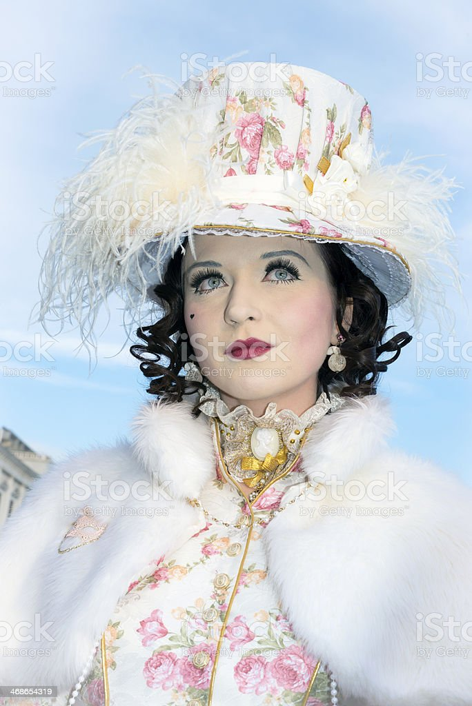 Beautiful Female Mask, Venice Carnival, Italy, Europe royalty-free stock photo