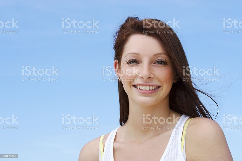 Beautiful female outdoors royalty-free stock photo