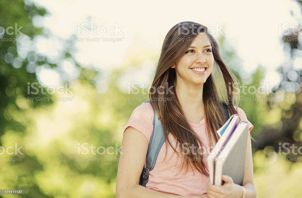 Beautiful Female Student royalty-free stock photo