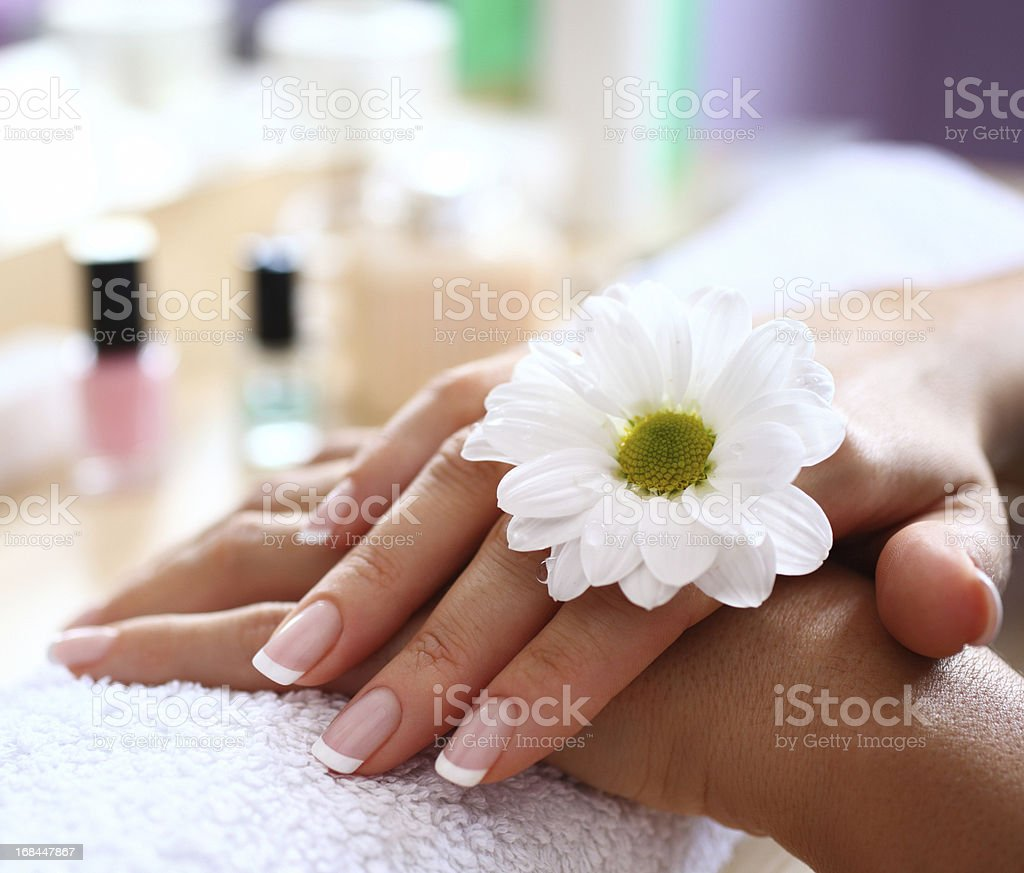 Beautiful fingernails. royalty-free stock photo