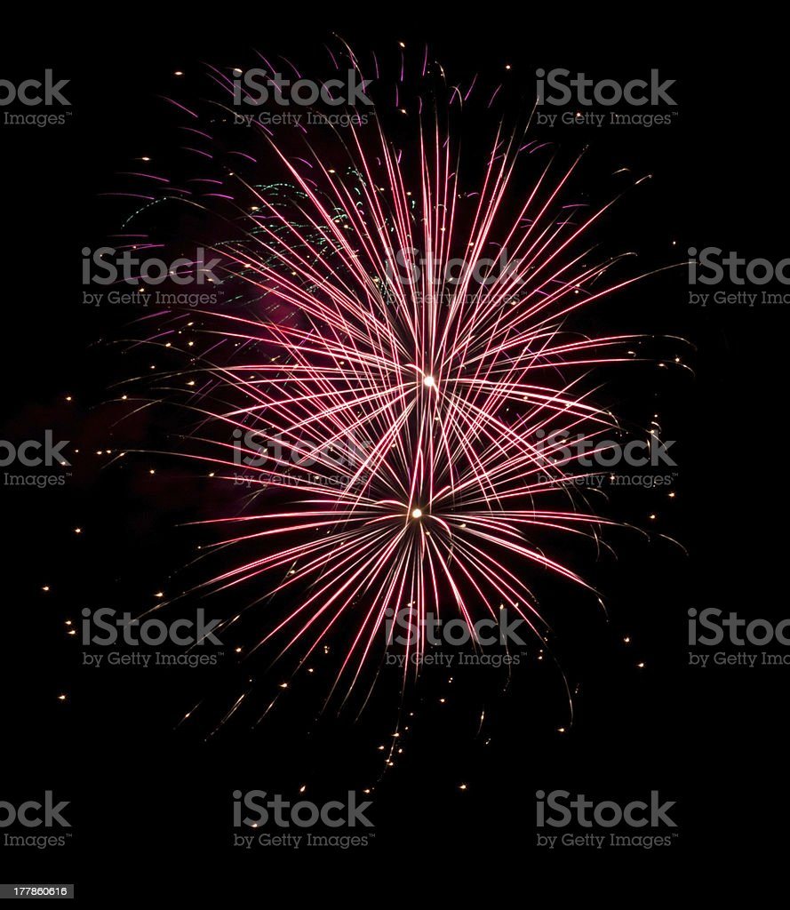Beautiful firework stock photo