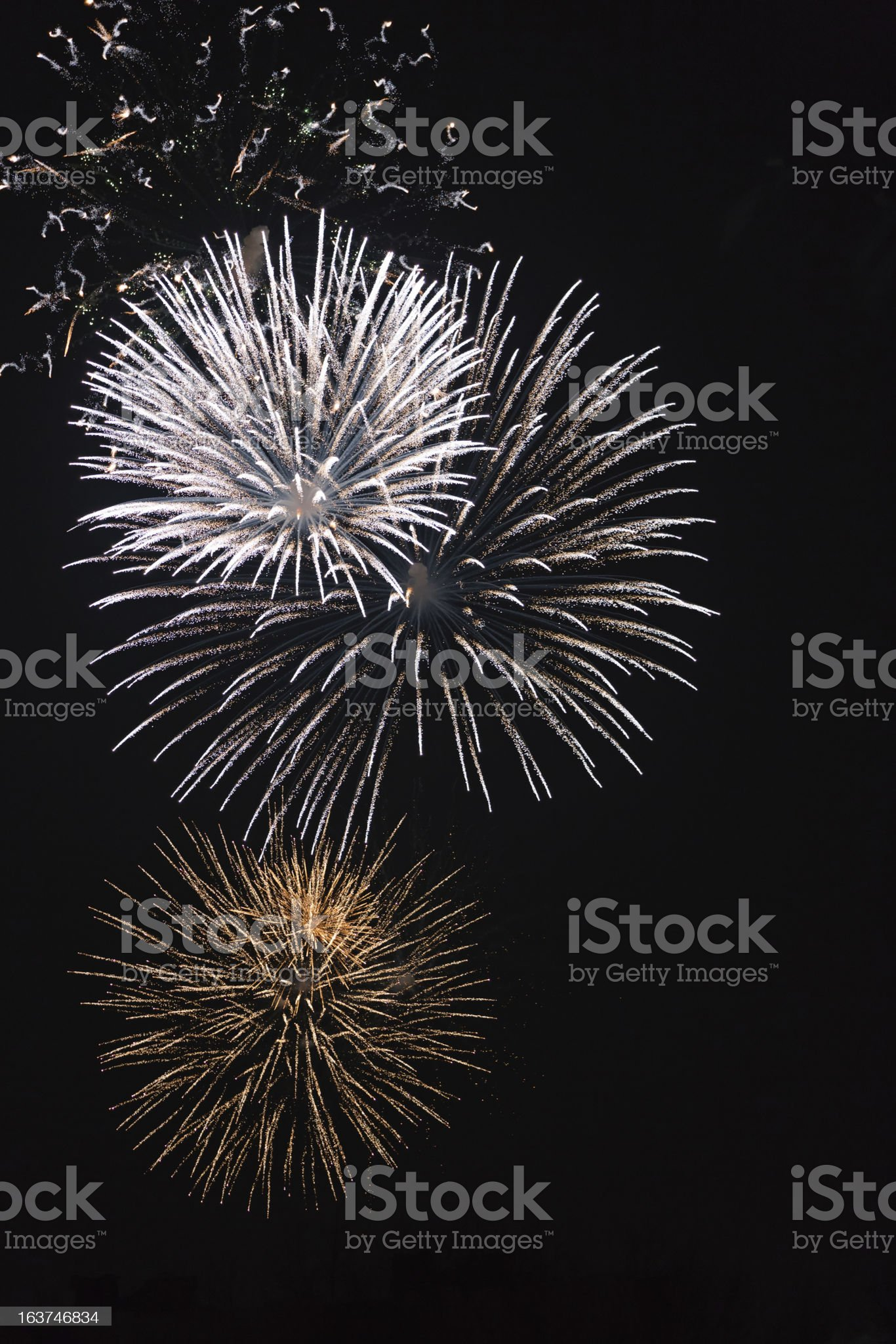 Beautiful fireworks. royalty-free stock photo