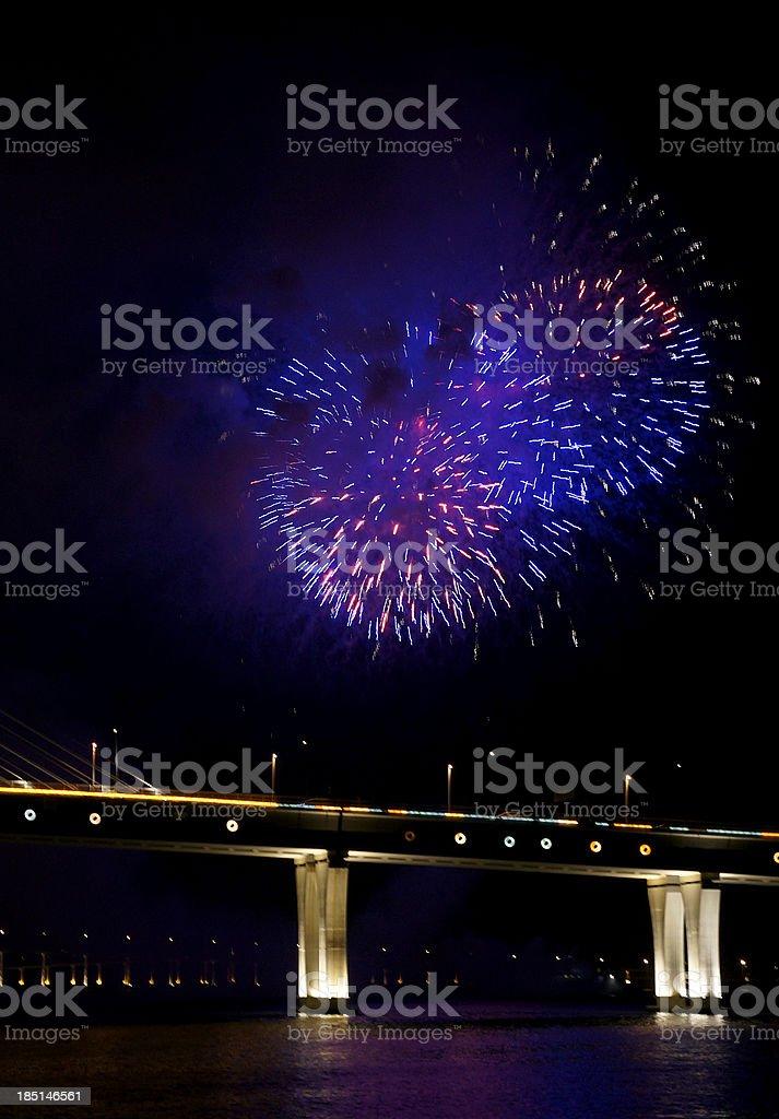 Beautiful fireworks royalty-free stock photo