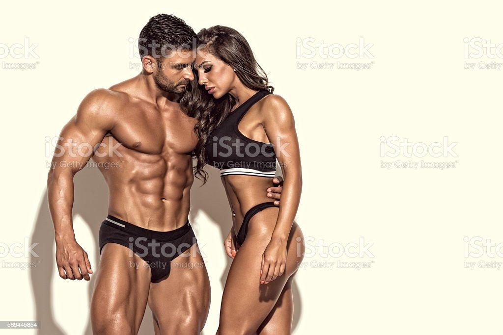 Beautiful Fit Couple stock photo