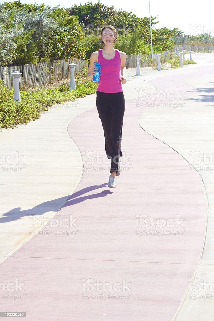 Beautiful Fit Female Jogging royalty-free stock photo