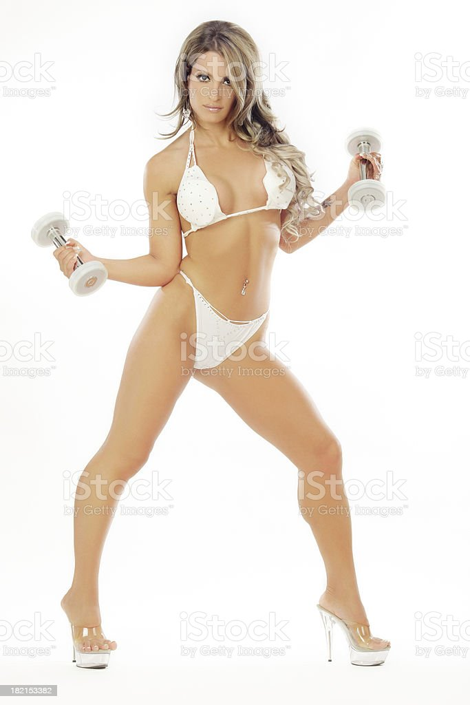 Beautiful Fitness Model royalty-free stock photo