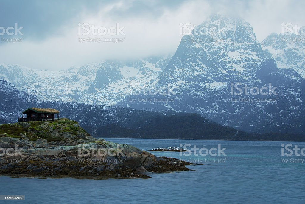 Beautiful Fjords royalty-free stock photo