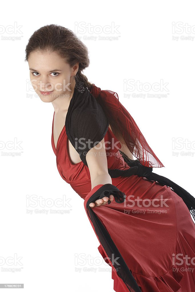 Beautiful flamenco dancer stock photo