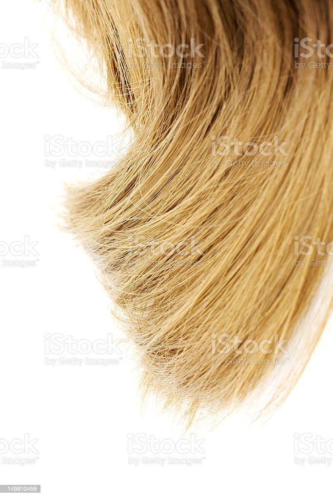 Beautiful flaxen hair lock stock photo