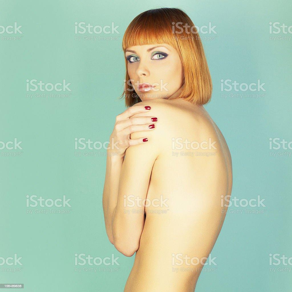 Beautiful flexible girl royalty-free stock photo