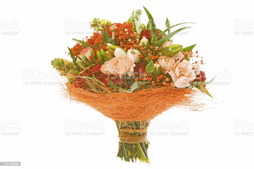 beautiful flower bouquet on white background royalty-free stock photo