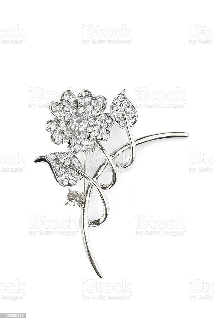 Beautiful flower brooch royalty-free stock photo