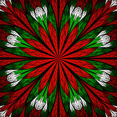 Beautiful flower pattern in stained-glass window style. You can