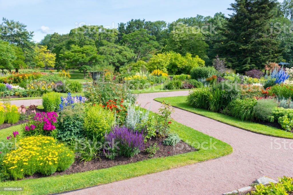 Beautiful flowerbeds stock photo