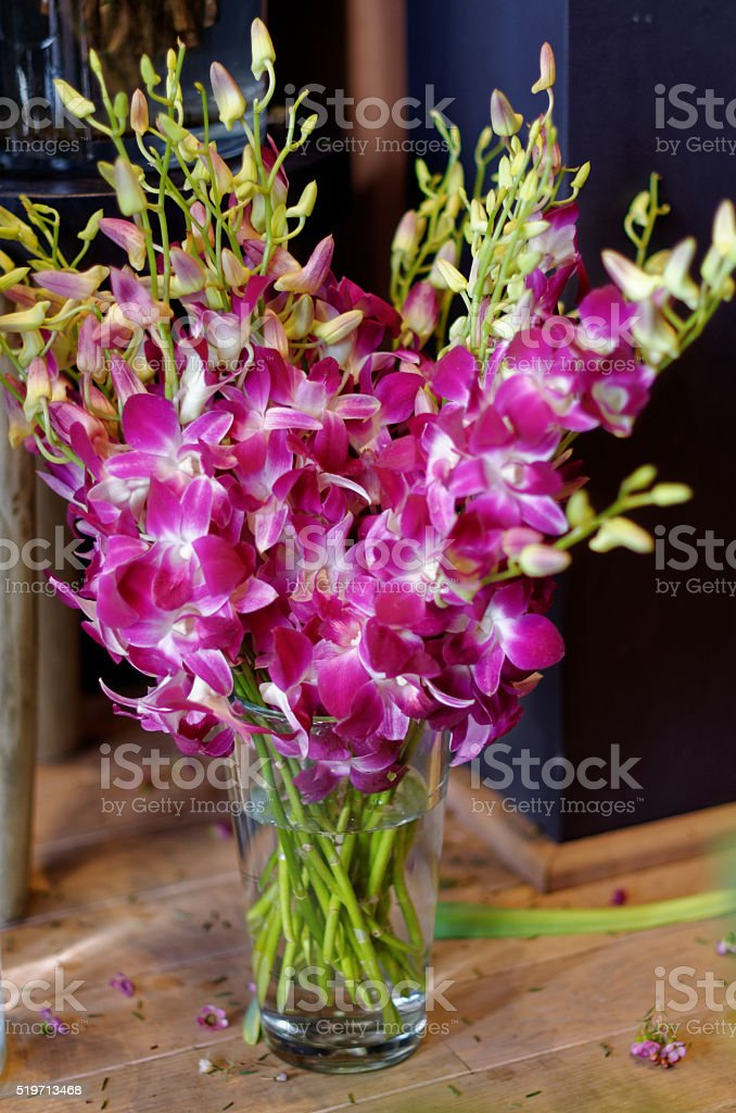 beautiful flowers in a vase royalty-free stock photo