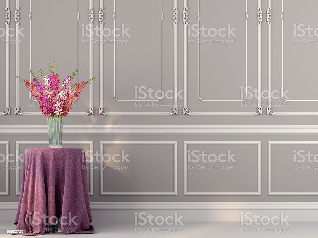Beautiful flowers on the table stock photo