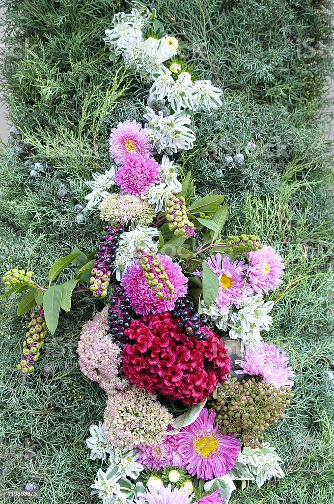 Beautiful Flowers on Wedding Portal royalty-free stock photo