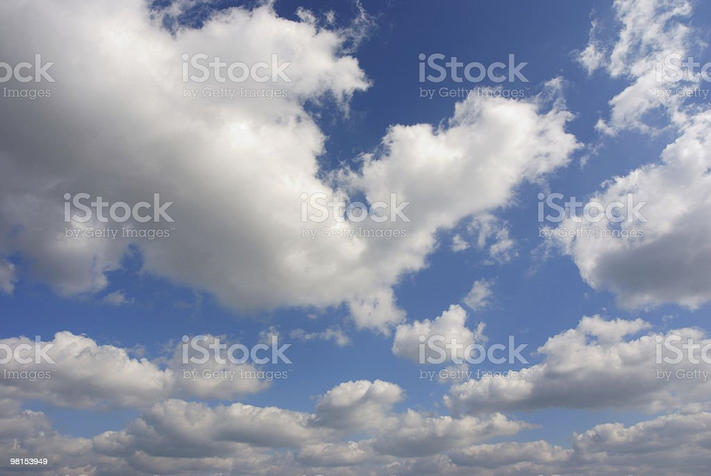 Beautiful Fluffy White Clouds stock photo