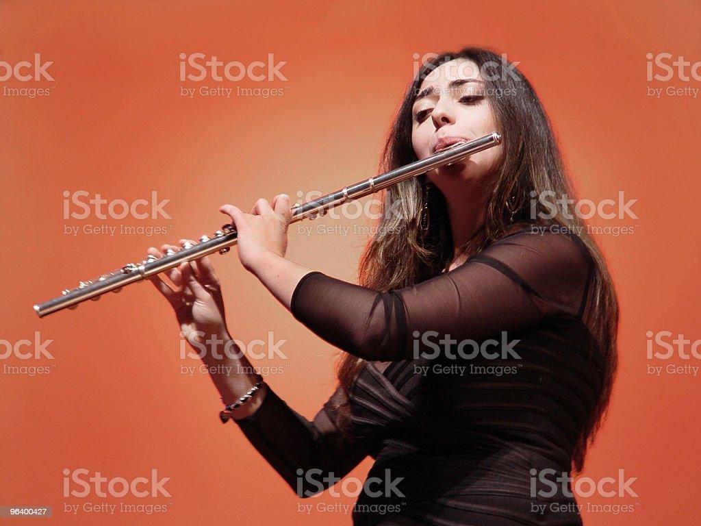 Beautiful Flutist stock photo