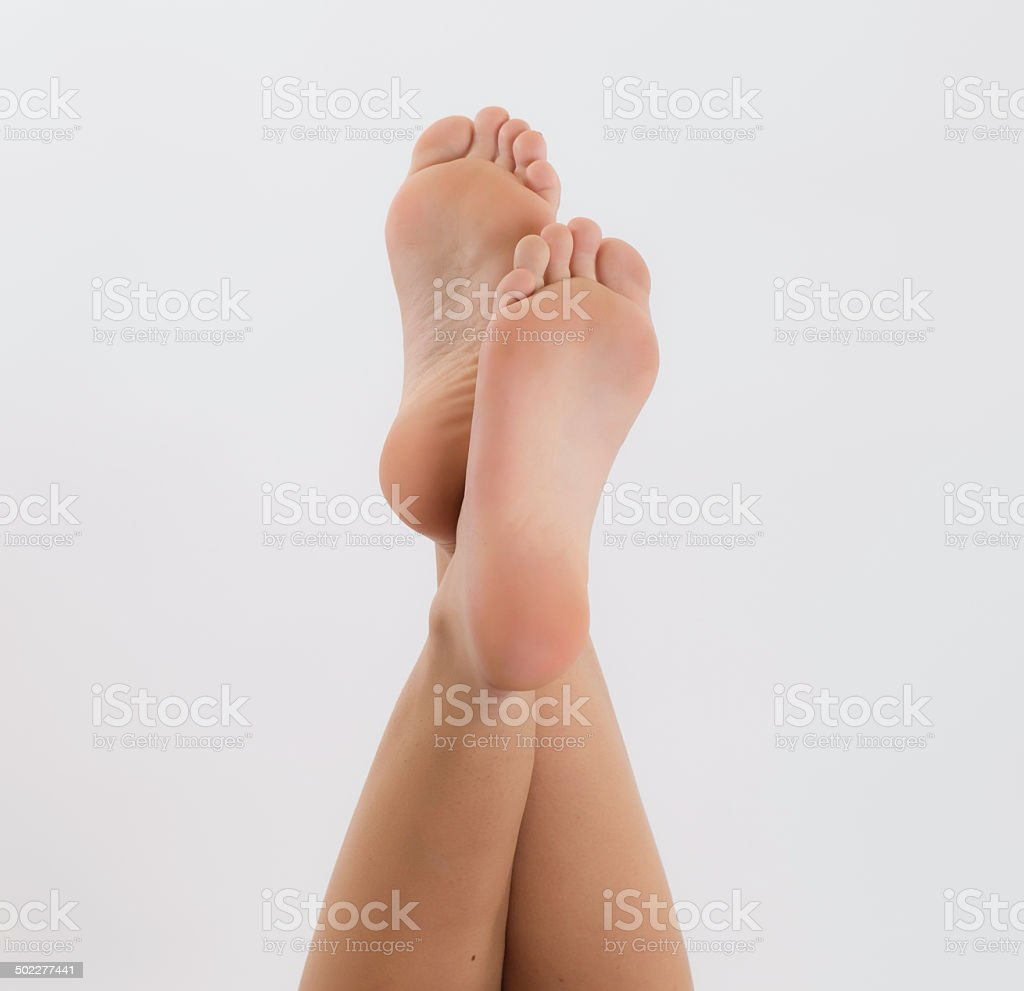 Beautiful foot stock photo