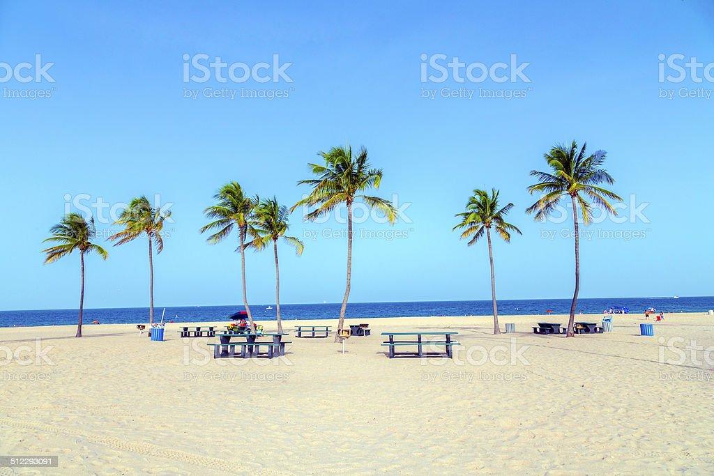 beautiful Fort Lauderdale beach stock photo
