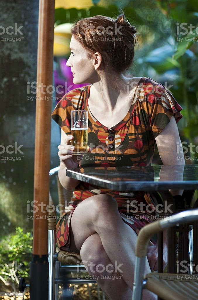 Beautiful Forty something Redhead woman royalty-free stock photo