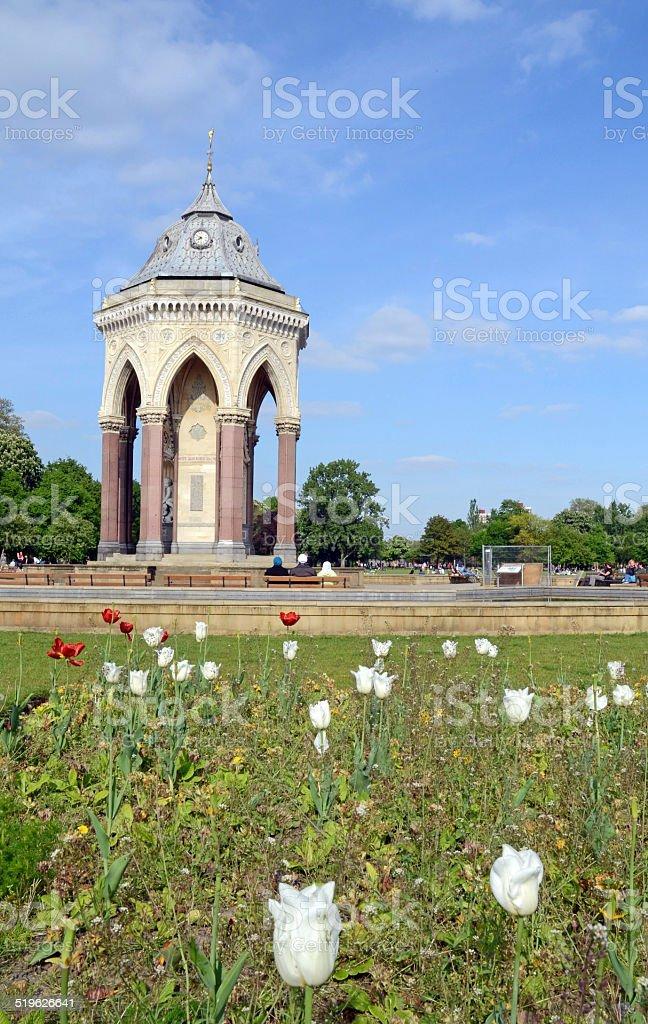Beautiful Fountain in Victoria Park/London stock photo