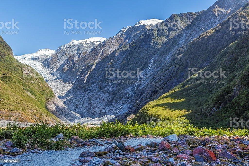 Beautiful Franz Jozef Glacier, South Island, New Zealand stock photo