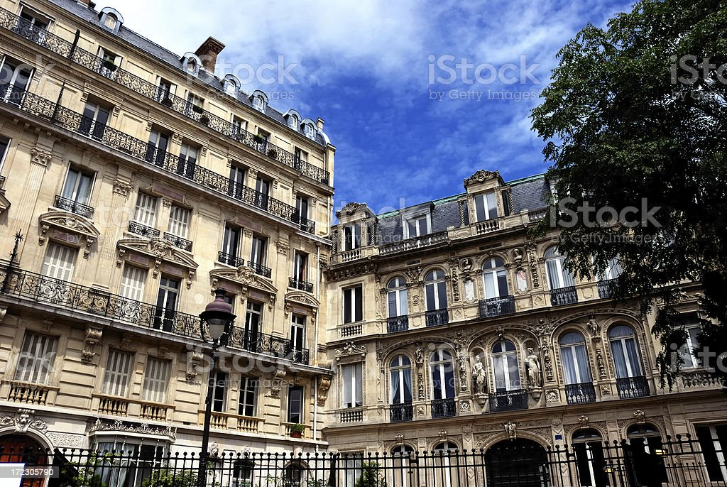 beautiful french corner royalty-free stock photo