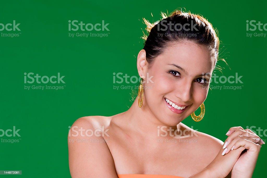 Beautiful friendly smile royalty-free stock photo