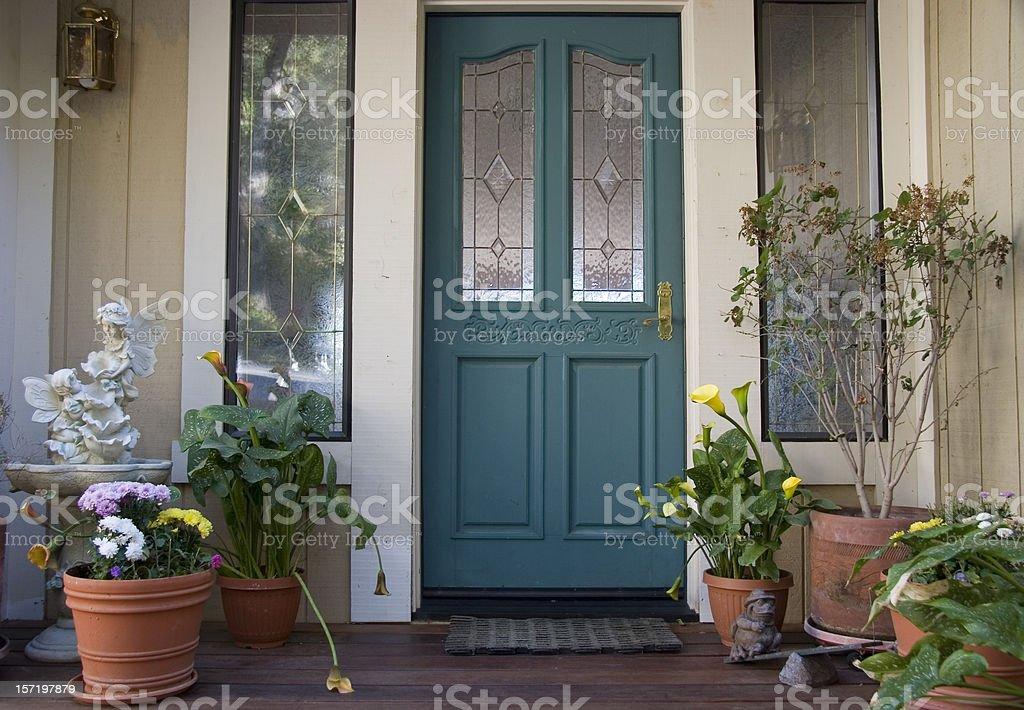Beautiful front door stock photo