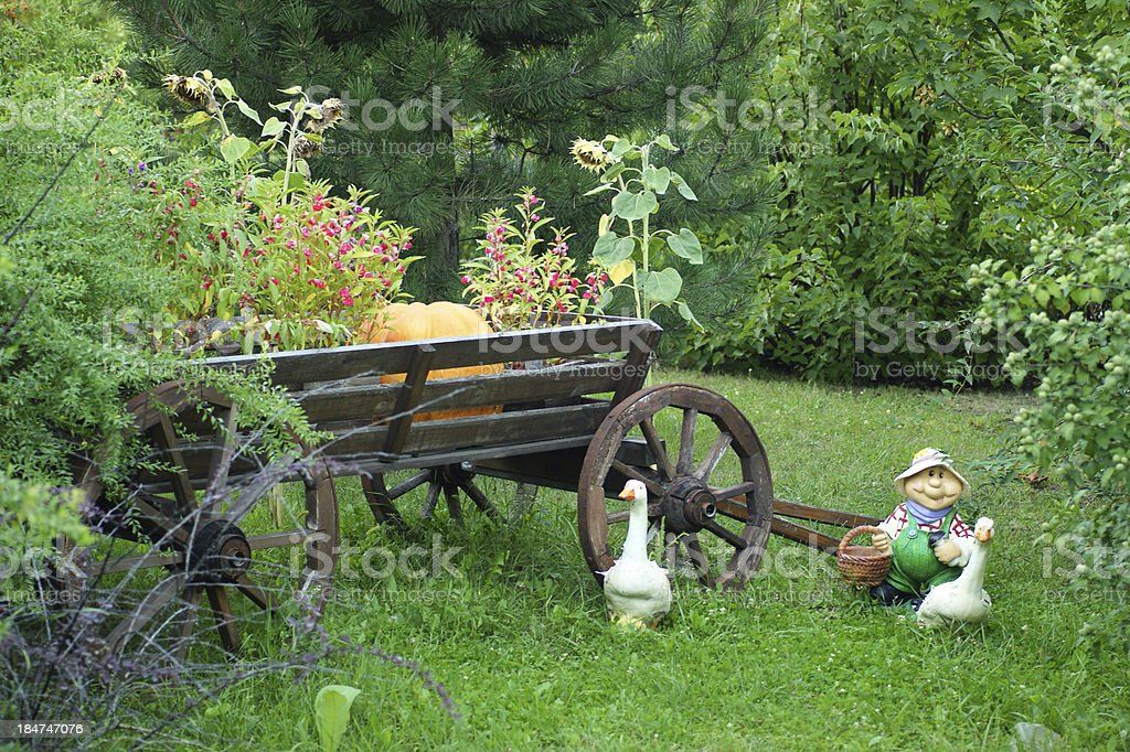 beautiful front garden stock photo