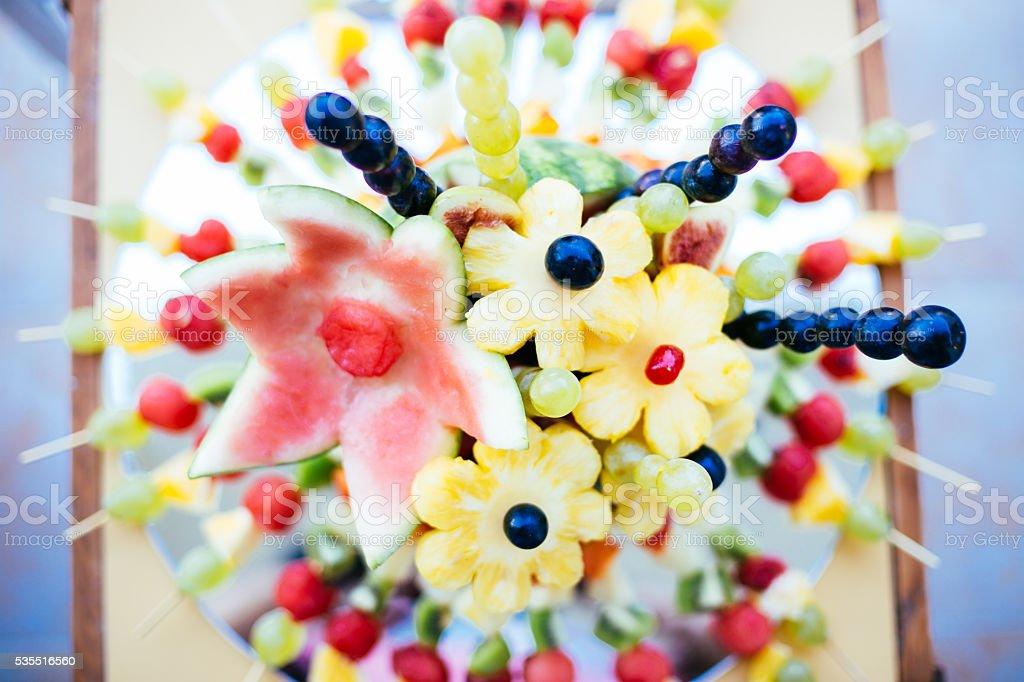 Beautiful fruit decoration stock photo