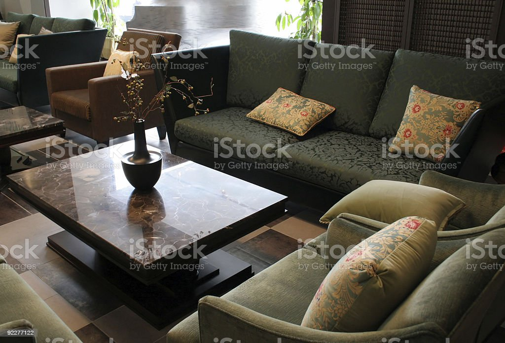 Beautiful furniture stock photo