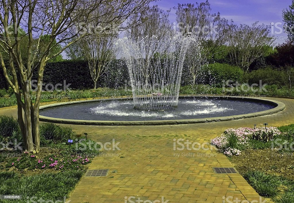 Beautiful Garden Fountain royalty-free stock photo