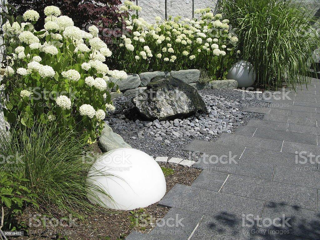 Beautiful garden terrace royalty-free stock photo
