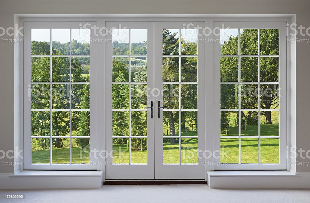 beautiful garden windows stock photo