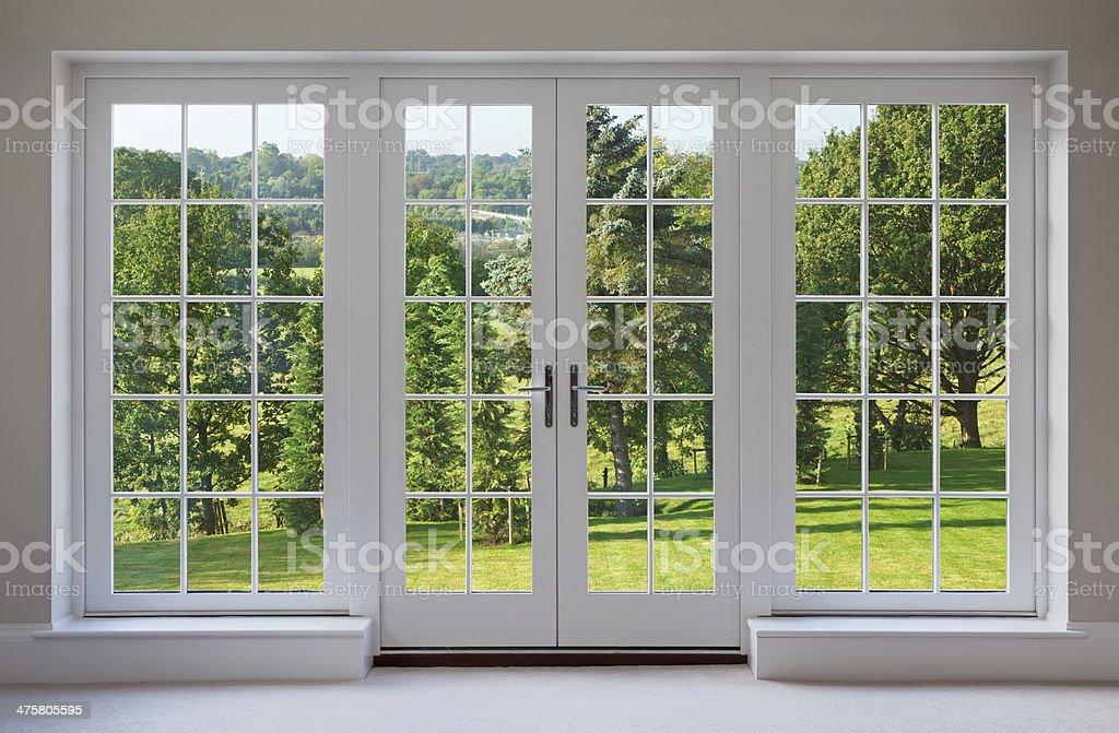 beautiful garden windows stock photo