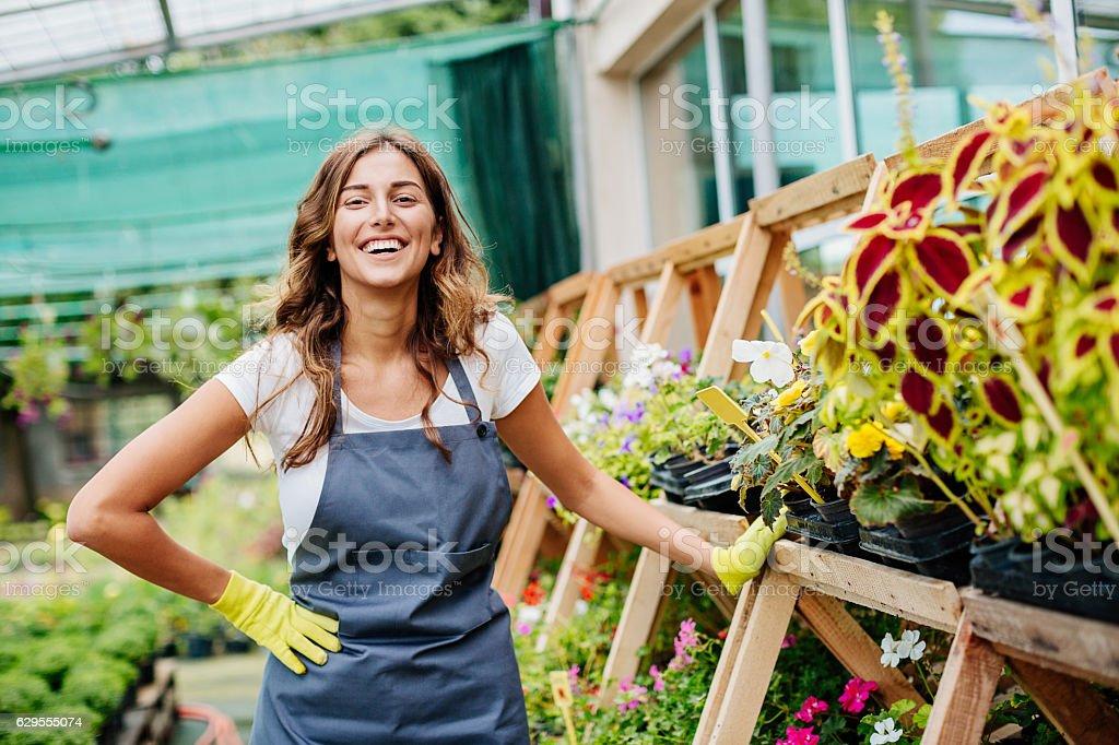 Beautiful gardener stock photo