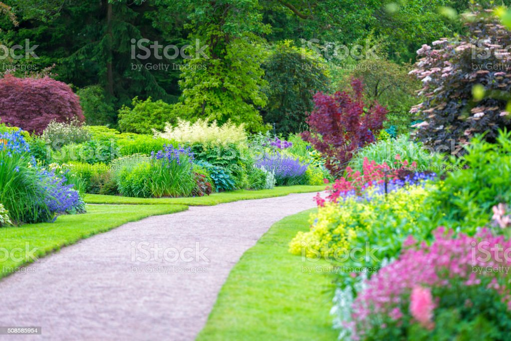 Beautiful gardens stock photo