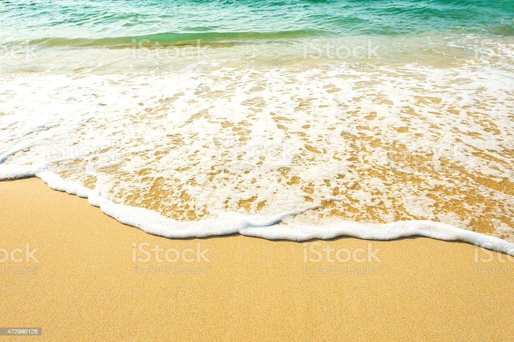 Beautiful Gentle Surf at Koh Kood island , Thailand stock photo